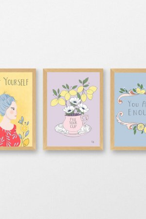 self care inspirational quote art print