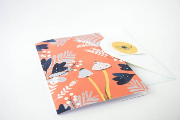 set of cards - greeting cards - nature - floral card set