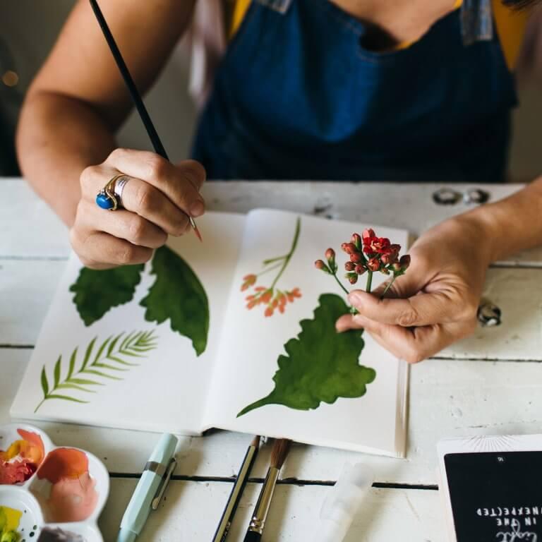 Art Studio Ideas, inspiration, studio at home, art studio tips, organisation