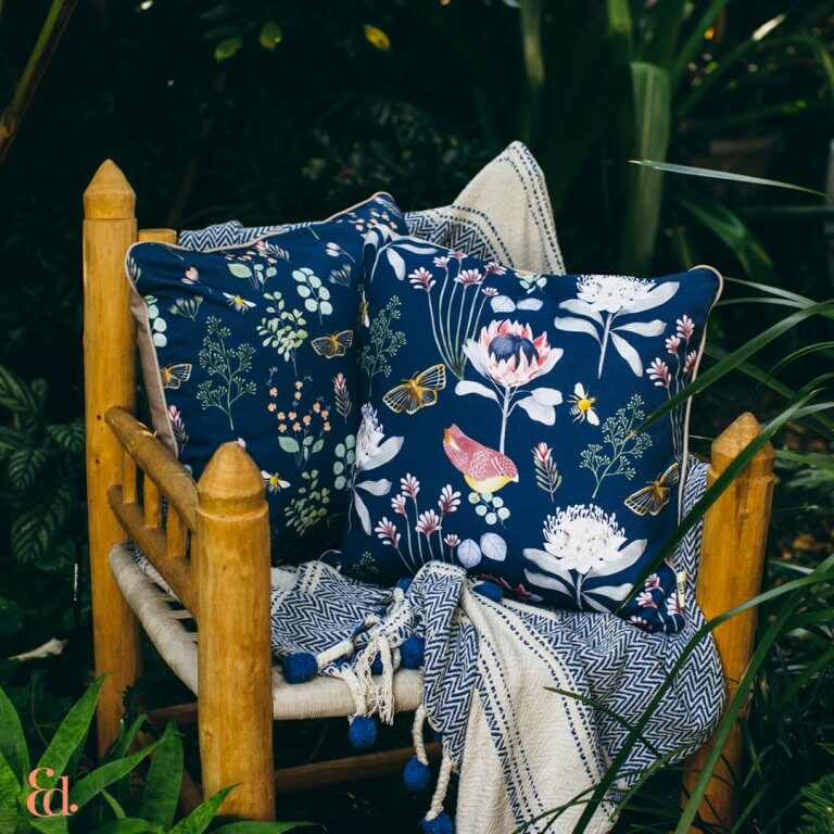 Designer cushions online, Erin Duncan Creative, Cushions, Australian Homeware stores, eco-chic