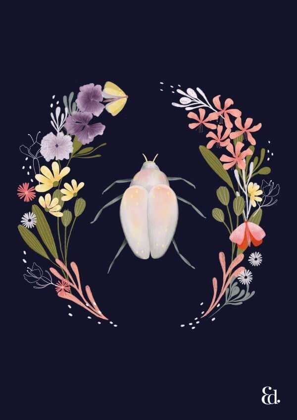 Australian Native Art Print, Erin Duncan Creative