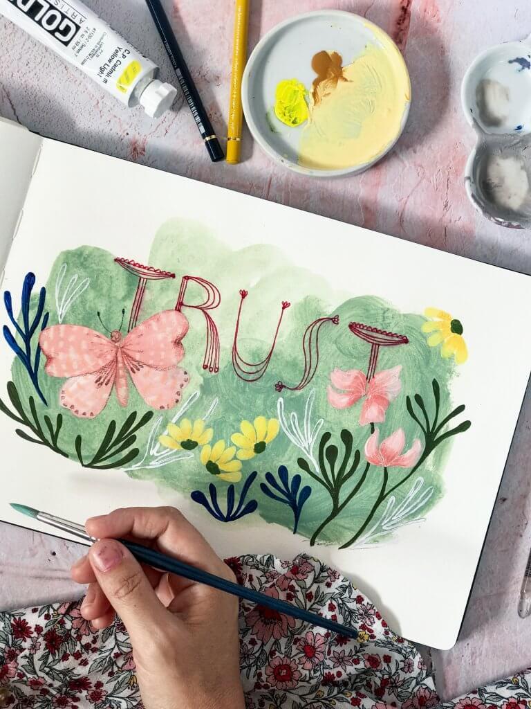 Trust, Erin Duncan Creative, Painting