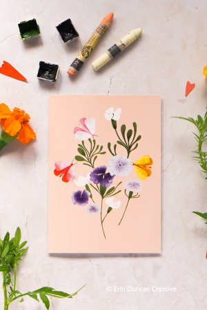 Wildflower greeting card, Erin Duncan Creative