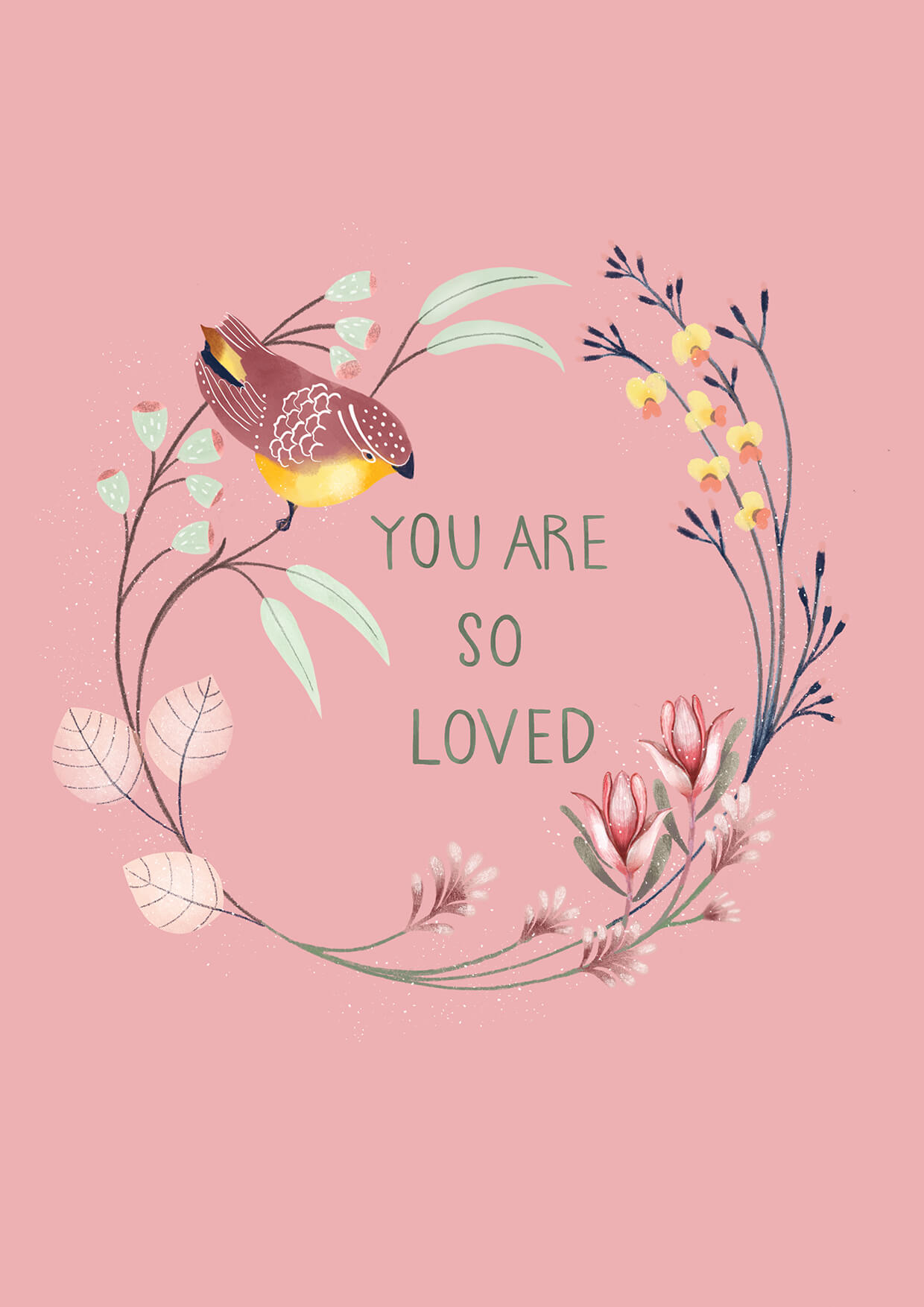 You Are So Loved, Mothers Day Card, Erin Duncan Creative