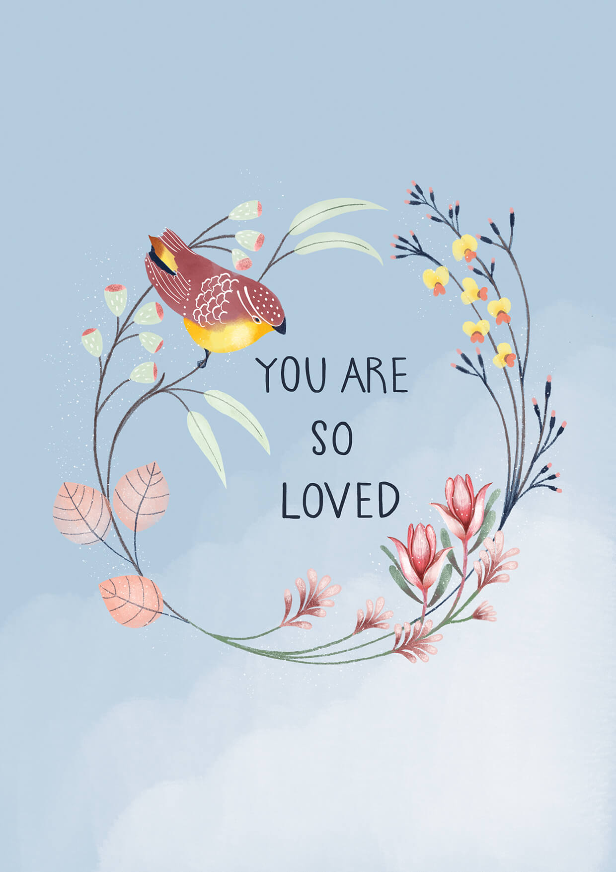 You Are So Loved, Mothers Day Greeting Card, Erin Duncan Creative