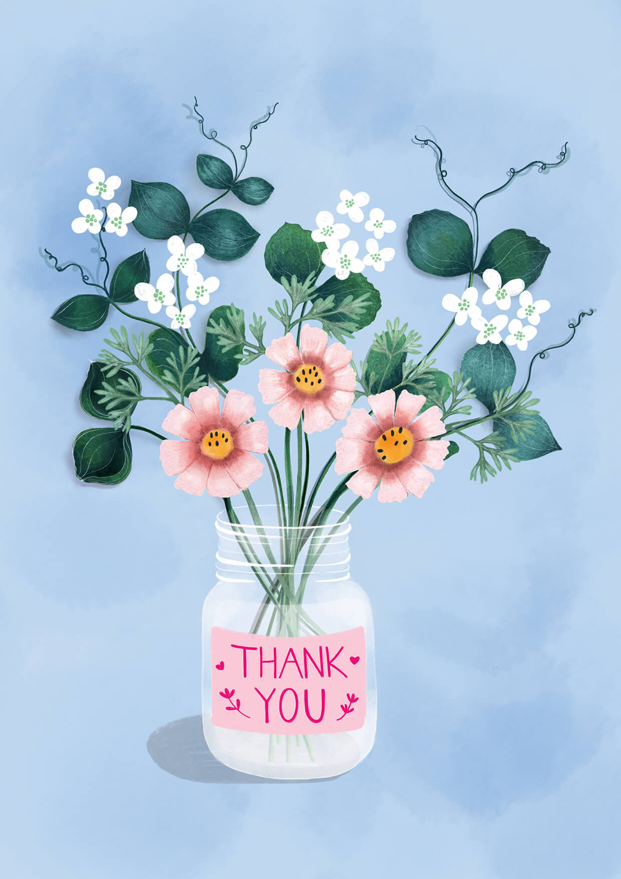 Thank you Card, Erin Duncan Creative