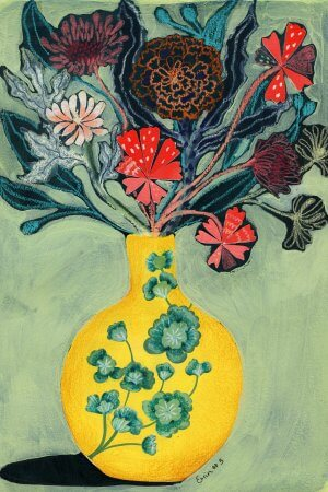 Yellow Vase, 100 Bad Paintings, Erin Duncan Creative
