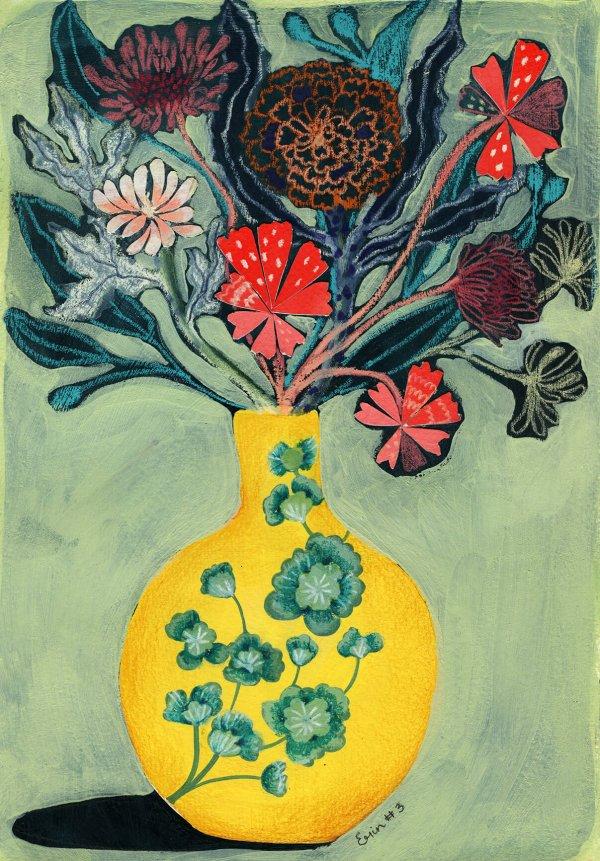 Yellow Vase, 100 Bad Paintings, Erin Duncan Creative