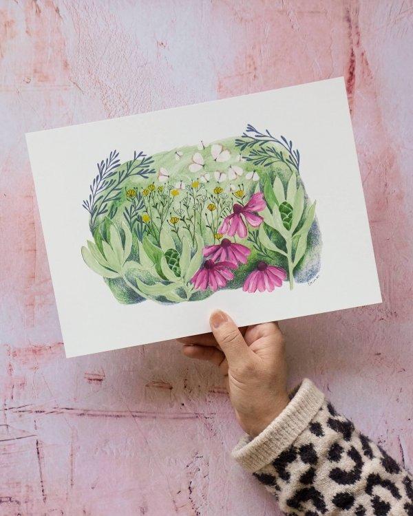 Wild Meadow, Art Print, Erin Duncan Creative, botanical art