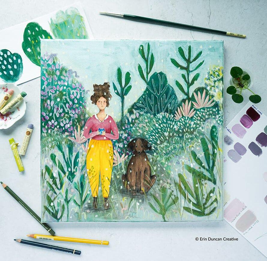 Erin Duncan Creative, 100 Bad Paintings, Garden Companions