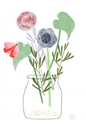 Foral Illustration, Erin Duncan Creative