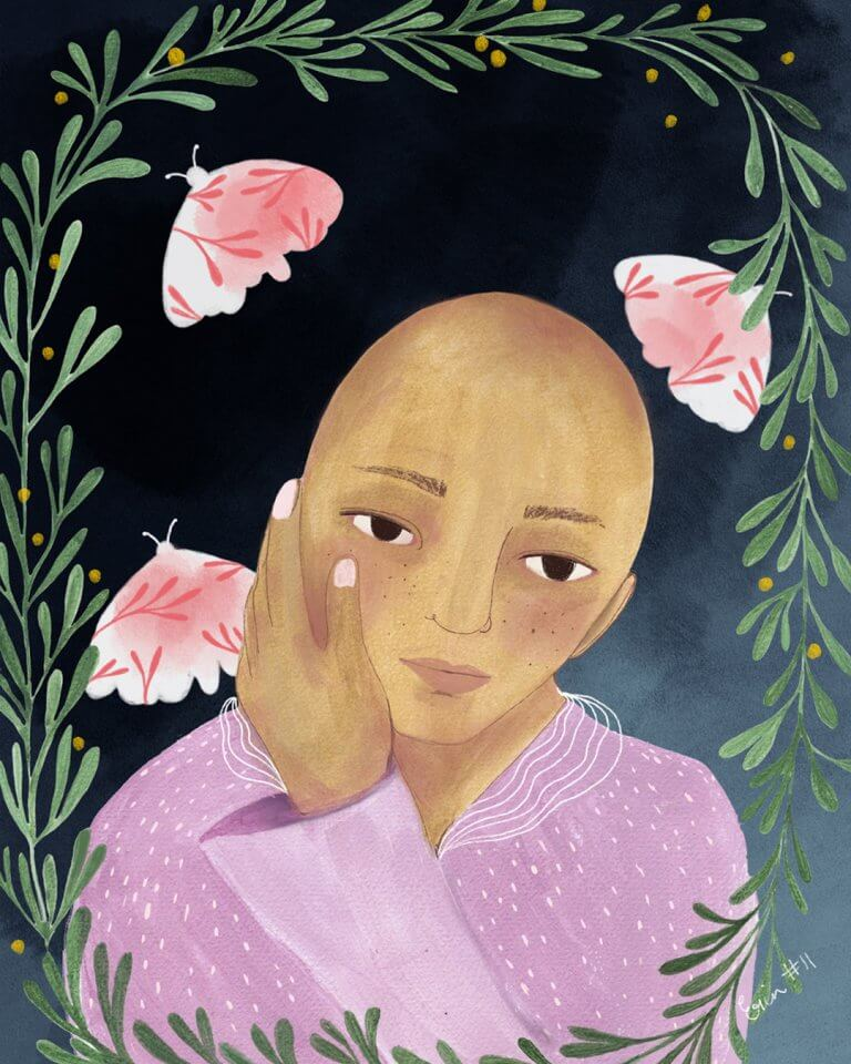 Self Portrait, Erin Duncan Creative, Breast cancer Survivor, Australian Artist
